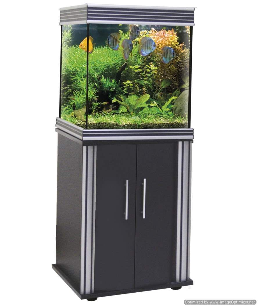Pet Supplies Acquario Wave Basic 80 Nero Led 95 Litri 82x32x45h Amtra Aquariums & Tanks