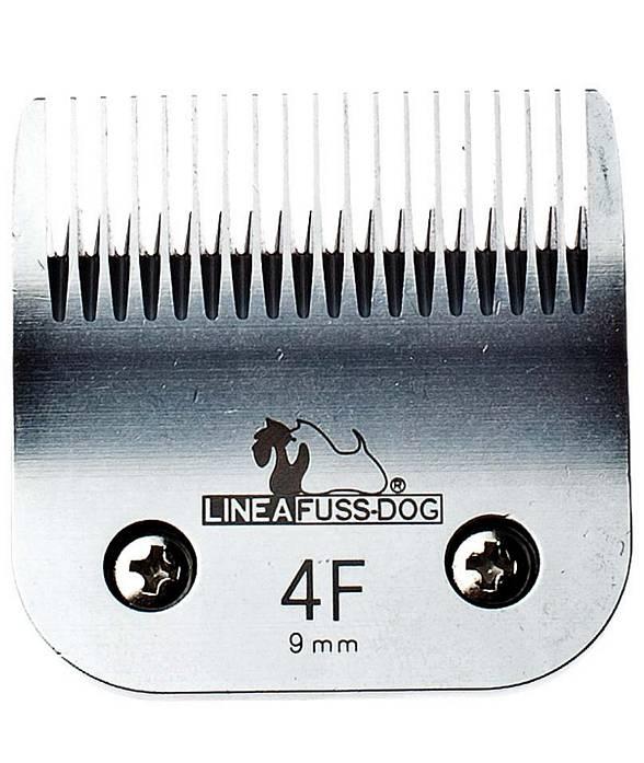PROMOZIONE Testina in acciaio misura 4F lunghezza taglio 9mm per tosatrice Fuss-dog