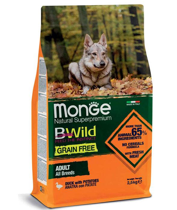 PROMOZIONE Monge Grain Free All Breeds Anatra e Patate