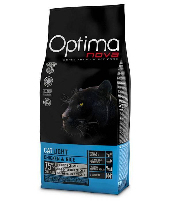 PROMOZIONE Optimanova Cat Adult Light pollo e riso 2 sacchi x 2 Kg cad