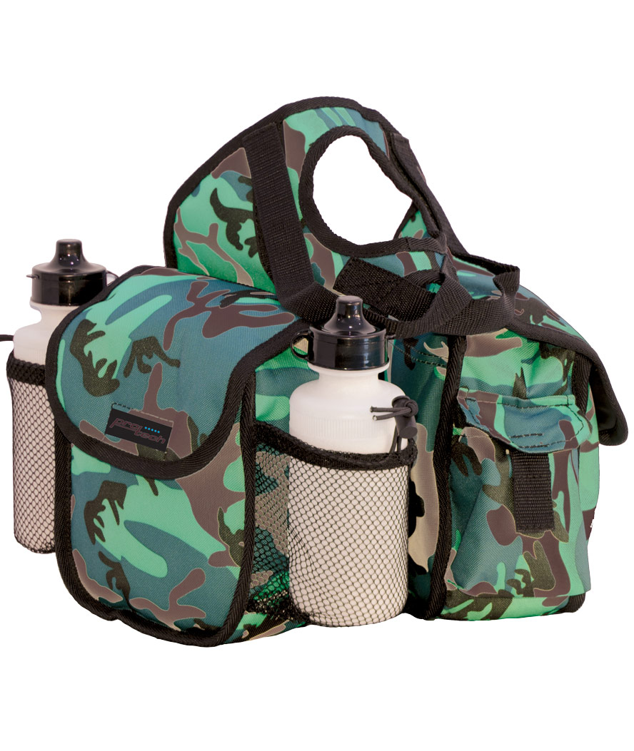 Padded nylon camouflage rear rear rear borsa with two pockets e water bottles Pools 883