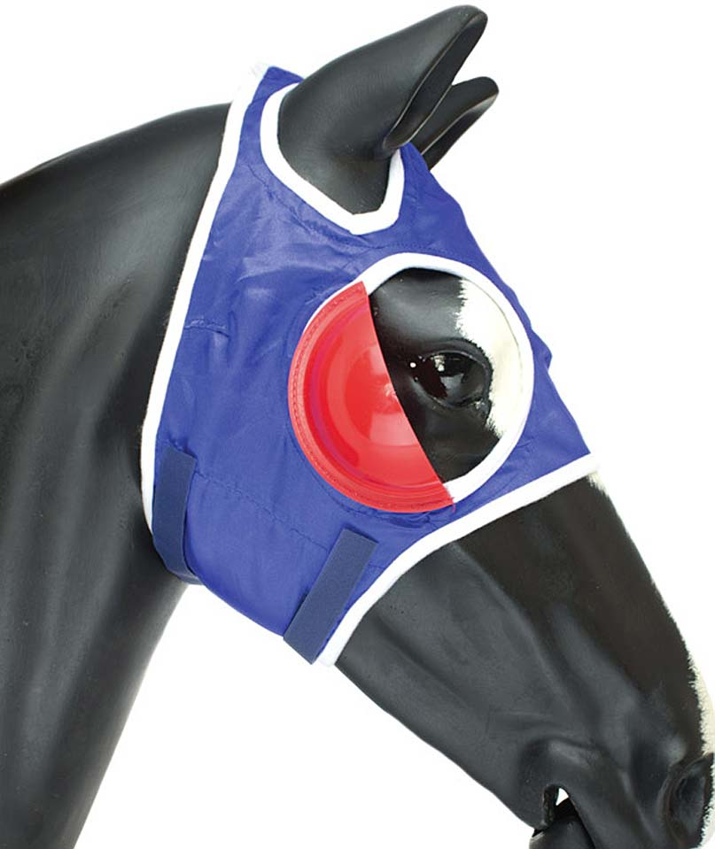 Nylon antimosque mask for horse with blinkers e tearjaw closure Umbria Equita