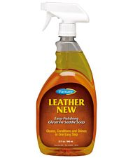 Sapone spray autopulente alla glicerina per la cura del cuoio LEATHER NEW LIQUID 473 ml