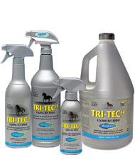 TRI-TEC insettorepellente per cavalli contro tafani mosche e insetti volanti con filtro solare 300 ml 600 ml 946ml e 3,8 Litri