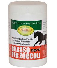GRASSO PER ZOCCOLI nero con catrame vegetale ad azione disinfettante antifunginea e rinforzante della suola 1 kg