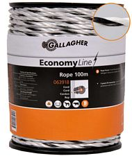 Corda Power line ECO professionale Gallagher da 5 mm con 5 conduttori in acciaio inox da 0.2 mm