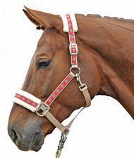 Cavezza per cavallo Vivien con imbottitura in peluches