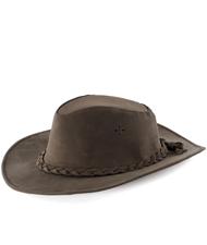 Cappello western in cuoio