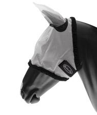 Maschera antimosche per cavallo in nylon con copriorecchie e chiusura velcro