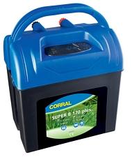 Elettrificatore CORRAL SUPER B170 PLUS a batteria 9V/12V e corrente 230V per cavalli, cani e animali da reddito  recinzioni fino 3 km