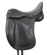 Sella da dressage DLx in in pelle sintetica con archetto intercambiabile