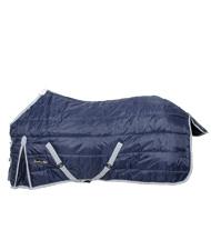 PROMOZIONE Coperta da box 420D per cavalli Classic imbottita 350 g tessuto traspirante con trapunta ROSSO 125 CM