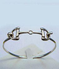 Braccialetto rigido soggetto morso cavallo in argento