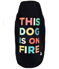 T-shirt per cani modello this dog is on fire