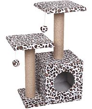 Tiragraffi medio due colonne Leopardo Double