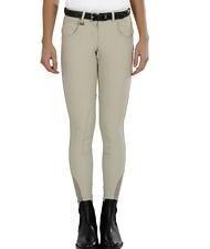 Pantalone da donna per equitazione AURA in tessuto tecnico invernale aderente taglio anatomico con inserti in lycra sulla caviglia