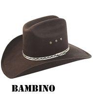 Cappello cowboy bambino feltro rigido a9f20dc770ce