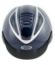 Casco da equitazione ventilato modello Cobra omologato VG1 ultra light con rotella di regolazione