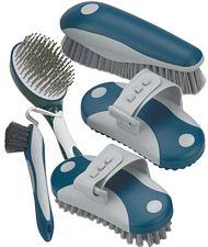 Set spazzole Lami-cell per il grooming del pelo e dello zoccolo del cavallo 5 pezzi