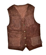 Set abbigliamento western uomo Chaps western e gilet in pelle scamosciata con  cappello in cuoio con 5679b0502c96
