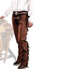 Set abbigliamento western uomo Chaps western e stivali in pelle con cappello  in cuoio con treccia 73266c04343d