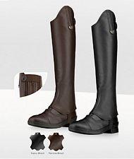 PROMOZIONE Ghette da equitazione Geras MARRONE MIS 5 in morbida pelle ingrassata con doppio elastico e cerniera posteriore